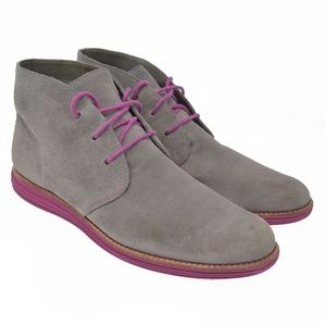 Cole Haan Lunargrand Lunarlon Sz 10B Suede Boots